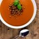 Tomaten-Creme-Suppe mit Kichererbsen-Croutons