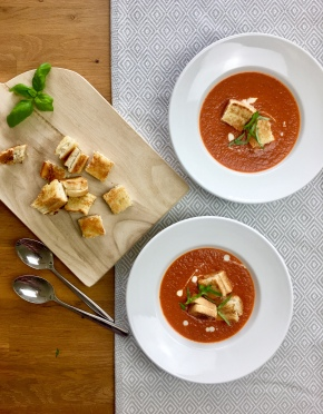 Tomaten-Knoblauch-Suppe