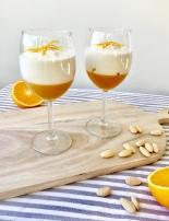 Orange-Zimt-Gelee mit Mandel-Tonka-Creme