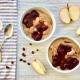 Apfel-Amaranth-Frühstücksbrei mit heißen Kirschen