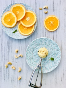 Cashew-Orange-Eis