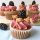 Apfel & Brombeer-Crumble-Cupcakes